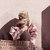 Street Sleeper #127 Veteran in color seated cold