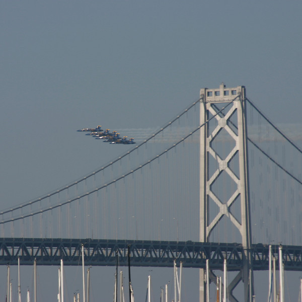 Blue Angels, Bay Bridge, San Francisco, October 2006
