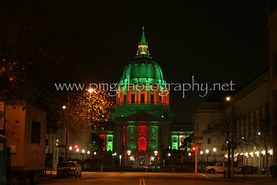 San Francisco City Hall, during the holidays
