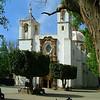 This church has beautiful Jacaranda trees close to it.