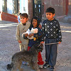 Three local kids at the Blessing of the Animals in San Miguel.