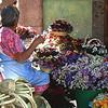 Flower seller on the Jardin.