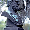 The Bust in Forsyth Park in Savannah, Georgia