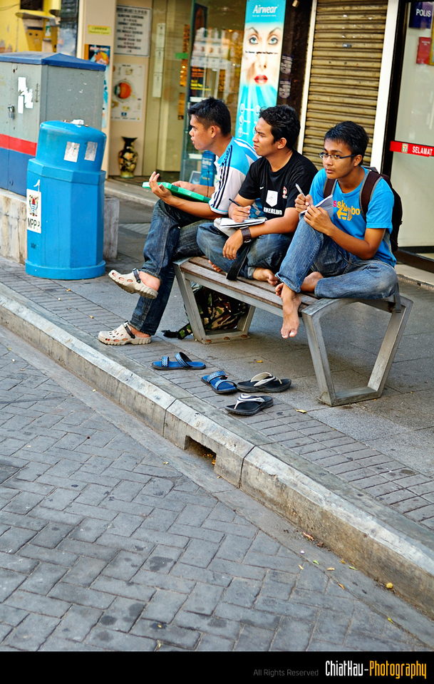 """I think they are doing some sort like the car """"banji"""" at Penang Street."""