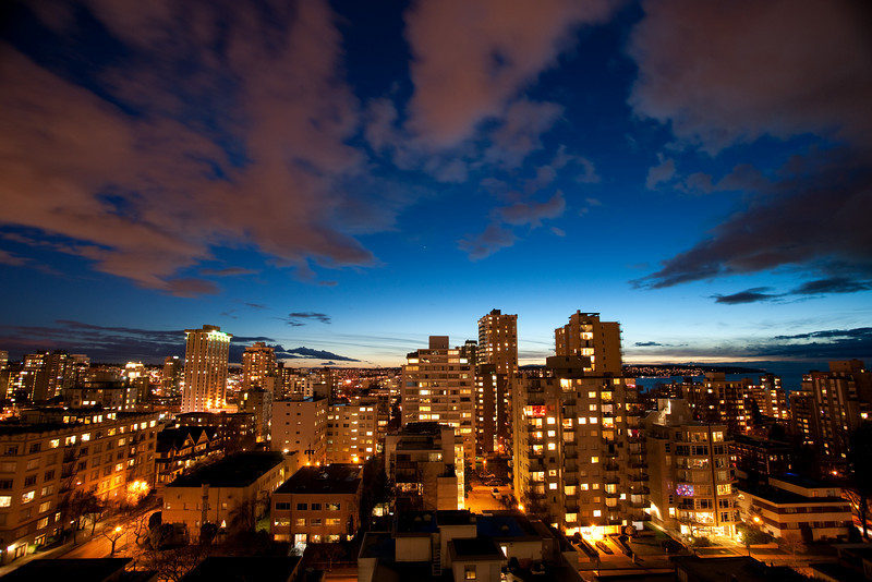 The view from my balcony, January 15 2010.  I was trying out my new tripod!