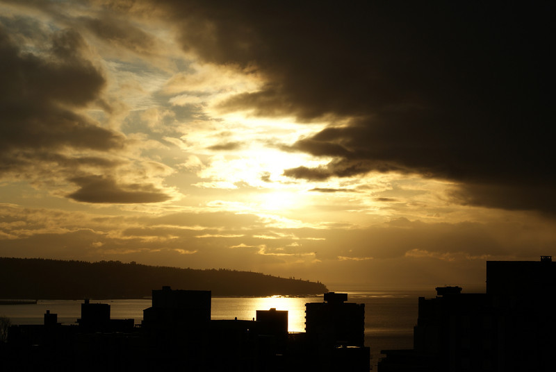 An angry sky: just before sunset on March 17, 2009.