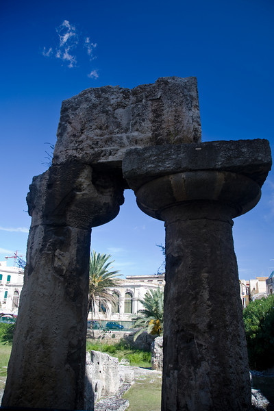Temple of Apollo: got embedded in many buildings, including Spanish barracks before the remaining of the original structure was exposed in the 20th century.