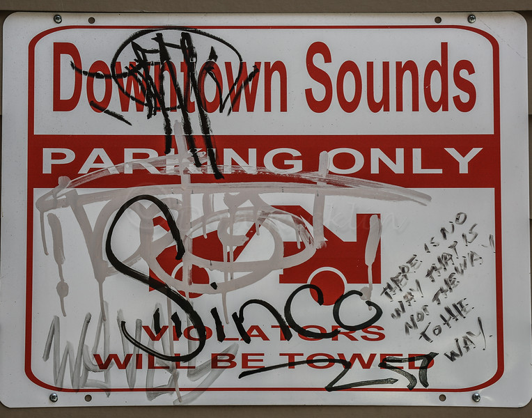 Downtown Sounds Parking Only