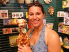 Michelle was sad that we didn't see any giraffes...<br /> <br /> Then we found him in the gift shop