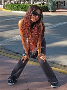 Posing on South Beach in 2010, Miami Beach, Florida.