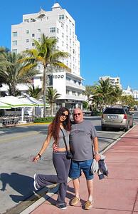 The loving couple on South Beach, 2010. Big things lie ahead.