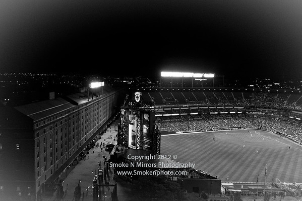 Camden Yards in the gentle evening light, May 2012.