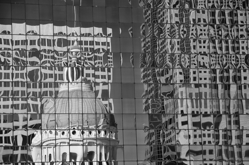 Reflected view of State Capitol Building
