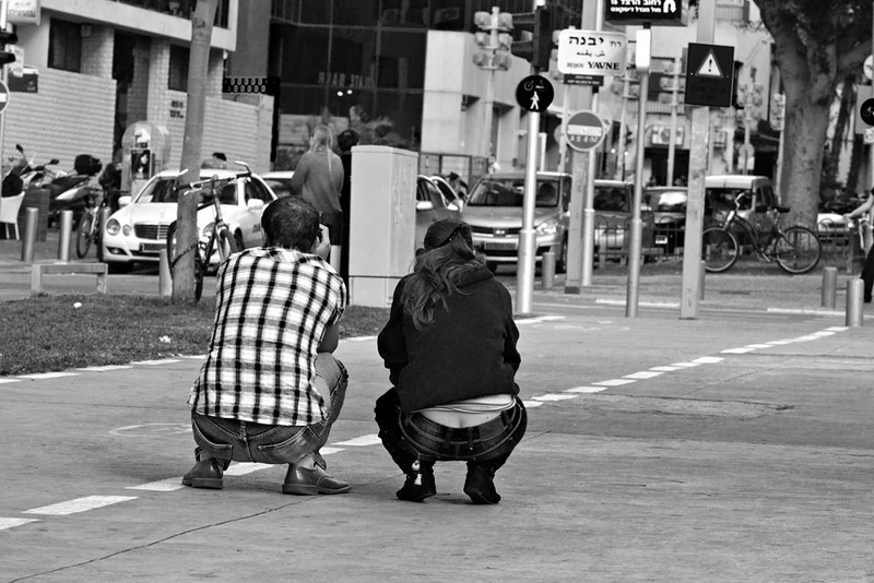 Photographer at work on Sd. Rothschild, Tel Aviv