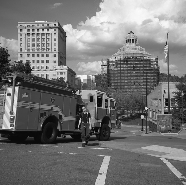 Downtown Asheville Fire Truck