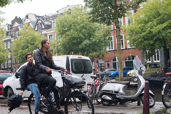 Rain shower—Amsterdam