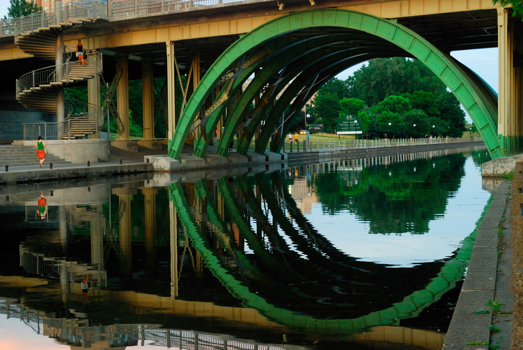 Ring - A nice reflection from the Rideau canal in Ottawa.