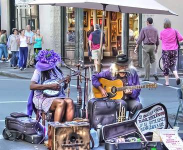 HDR of street musician's playing in the France Quarter in New Orleans.