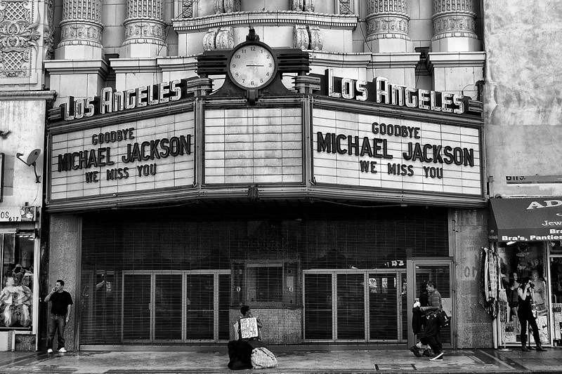 Goodbye Michael jackson<br /> Downtown L.A.