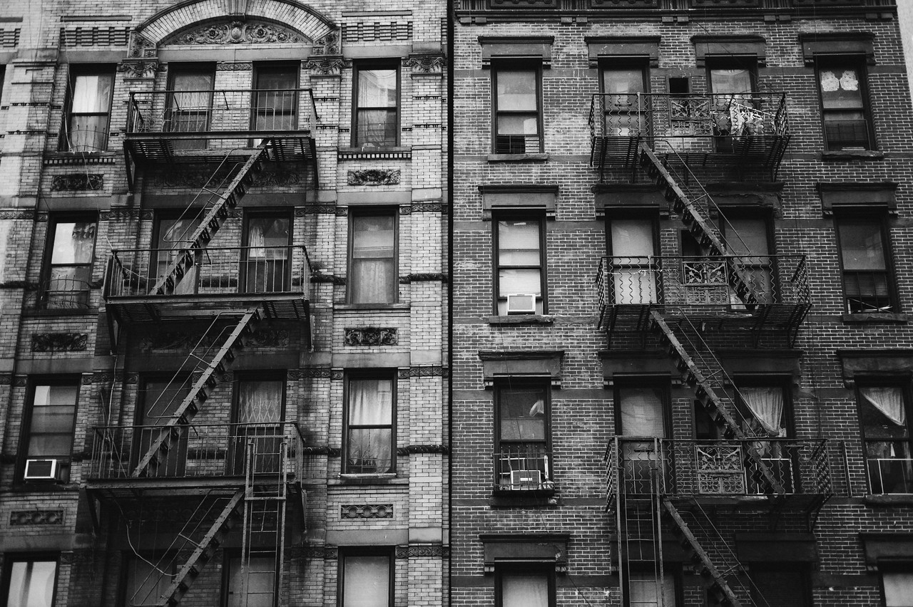 Typical NYC apartments in Chinatown.<br /> (New York)
