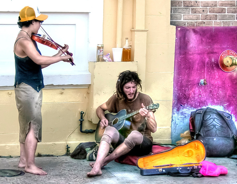 HDR photo of Street musicians in New Orleans.