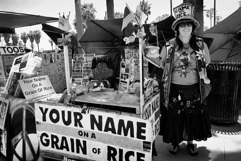 Your Name On A Grain Of Rice<br /> Vivianne Robinson<br /> Venice Beach CA.