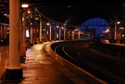 Newcastle Upon Tyne, Train Station, UK