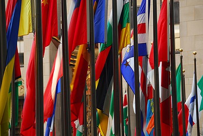 Flags of Nations (Rockerfeller Centre) NYC