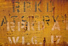 "Stenciled Letters - Boxcar Series<br />  <a href=""http://en.wikipedia.org/wiki/Super_Chief"">http://en.wikipedia.org/wiki/Super_Chief</a>"