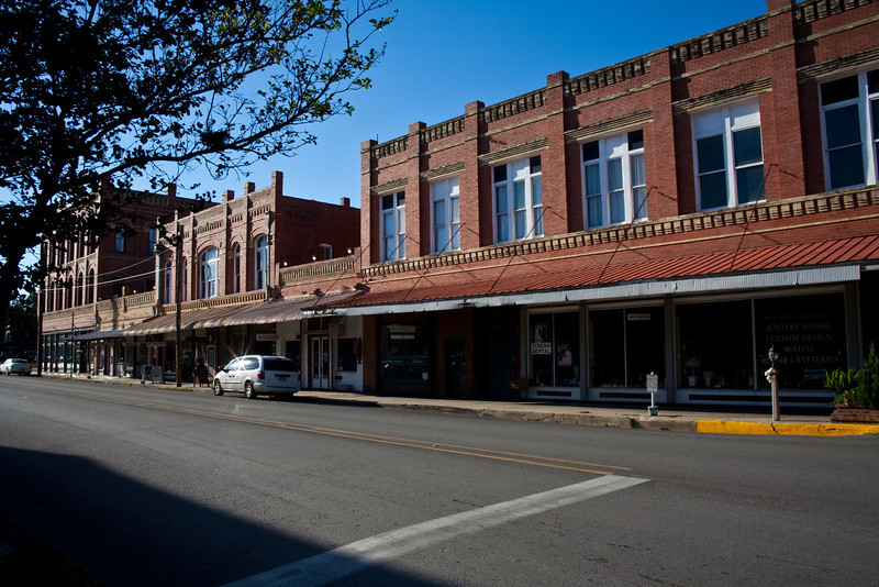 Street Scene in Lockhart, Texas.