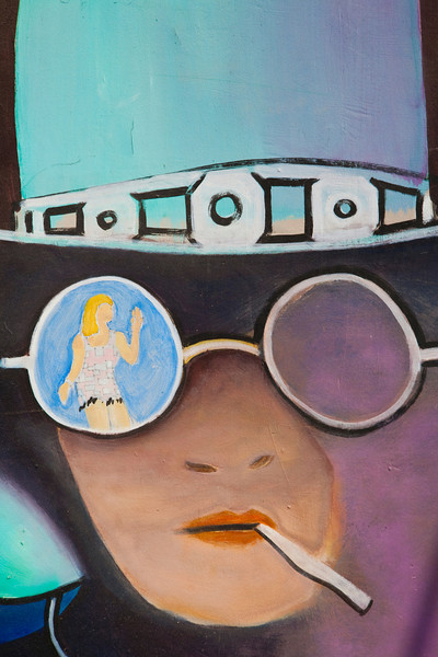 Cosmic Cowboy Mural. South Austin, Texas