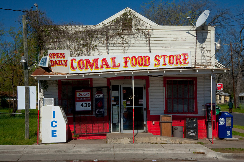 They got it all, even a pay phone!<br /> Comal and 3rd - East Austin,TX.