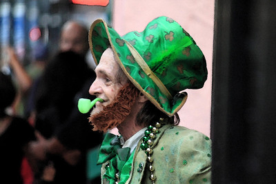 Leprechaun on Bourbon Street in new Orleans.