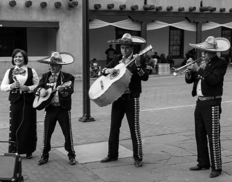Santa Fe Mariachi Wedding band on the Plaza.