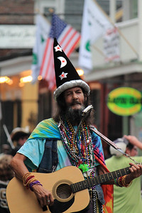 "Street Performer ""Wizard"" on Bourbon Street in New Orleans."
