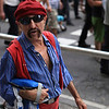 I was busy photographing austerity demonstrators in Barcelona, Spain when this chap walked by.