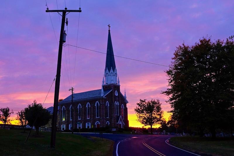 Sundown at Trinity Church (Fuji X100S, 23mm)
