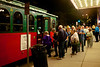Trolley line after concert