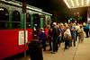 Trolley line after concert