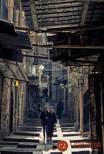 Two girl in the Old City of Jerusalem