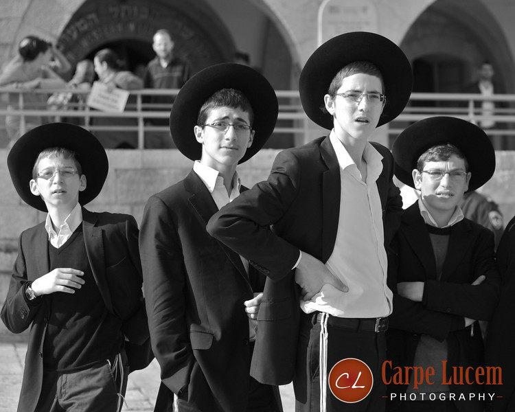 Young Israeli boys in Jerusalem