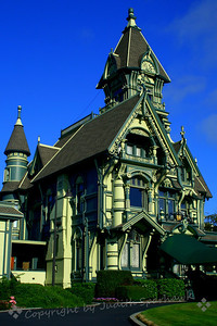 Carson Mansion, Eureka ~ This huge and elaborate mansion is at the top of the hill above the old section of Eureka.  It was built from railroad money many years ago.  It is quite a sight to behold!
