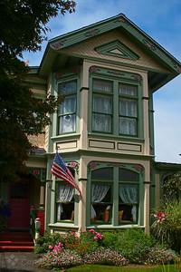 Home in Ferndale ~ The small town of Ferndale in northern California has made a point of restoring their old Victorian homes and businesses, and they have done a great job of becoming a showcase town.  This is an example of this restoration.