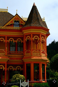 Ferndale Mansion Detail ~The small town of Ferndale in northern California has made a point of restoring their old Victorian homes and businesses, and they have done a great job of becoming a showcase town.  This is an example of this restoration.
