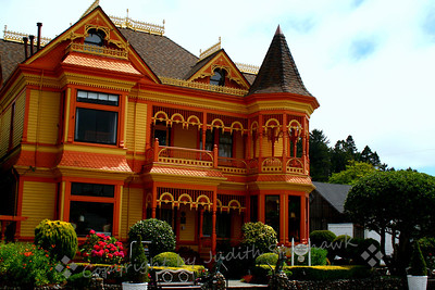 Ferndale Mansion ~ The small town of Ferndale in northern California has made a point of restoring their old Victorian homes and businesses, and they have done a great job of becoming a showcase town.  This is an example of this restoration.