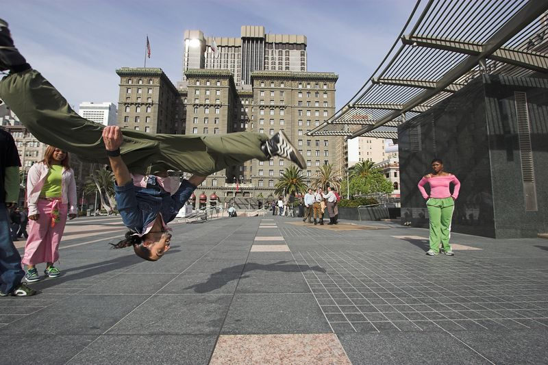 Hip Hop dance group from Okland performing in union square
