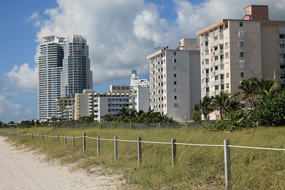 New construction completed in the area known as South of Fifth, South Beach, Florida.