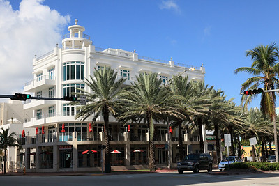 Corner of Fifth Street, South Beach, Florida.