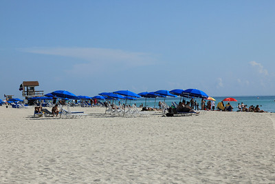 The sands of South Beach and blue umbrellas are available too.