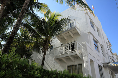 Art Deco building in the area near Fifth Street, South Beach, Florida.